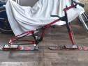 Snow bike sau ski bike - bicicleta cu schiuri