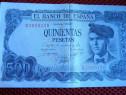 Bancnota 500 pesetas din 23 iulie 1971