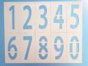 Sabloane cifre 0,1,2,3,4,5,6,7,8,9, inaltime de 150mm