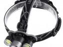 Lanterna De Cap Cree XML-T6 + 2x COB Frontala Zoom C205
