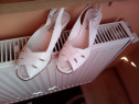 Sandale albe din piele- ca noi !