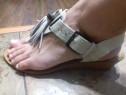 Sandale dama, Zara, piele naturala, marimea 38
