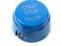 Capac Buton Start-Stop Bmw Seria 5 F07 Gt 2008-2015 Albastru
