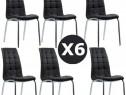Set 6 scaune de bucatarie cadrul metalic cromat -TRANSPORT G