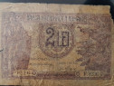 Bancnota 2 lei pusa in circulatie la data 28 octombrie 1937