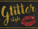 Tablouri inscriptionate cu Sclipici Glitter & Foita de Aur