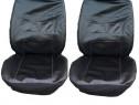 Huse scaune auto stofa imitatie de piele negru.