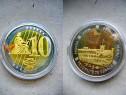 A193-UNC-Medalia 10 eurocent 2007 Monaco Principat specimen.