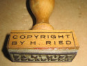 A220-Stampila Copyright bt H. Ried Stempel Herbst Rindermark