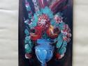 "Tablou foarte vechi ""Vaza cu flori"" - semnat si datat 1852"