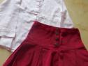 Bluza  camasa si o fustita pentru fete ,marimea 140