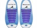 Set 16 sireturi elastice silicon pantofi sport incaltaminte