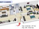 Apartament 3 camere,107 mp, parcare, loc joaca Total Confort