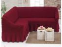 Husa pentru canapea tip Coltar culoare Bordo