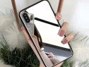 Husa Sparkly pentru iPhone X/Xs cu Oglinda - 5.8``