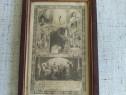 Tablou cu document de botez 1924 ecce panis vivus