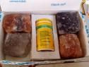 Veche cutie-suvenir cu segmente de rocă salină