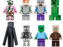 Set 8 Minifigurine tip Lego Minecraft cu Stray si Villager
