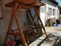 Leagăn din lemn masiv de 3 persoane