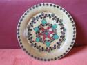 Farfurie/plate din lemn -vintage,handmade Germany '80-cadou