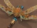 Brosa libelula 3d handmade, brosa insecta, accesorii femei