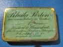 7510-I- Rheila Perlen Cutie Medicamente veche metal.