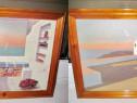 301-Tablouri moderniste pereche tempera interior cam./faleza