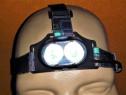Lanterna frontala ( de cap ) noua incarcare cablu usb inclus