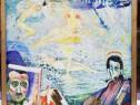 Dan Hatmanu Tablou Autoportret cu Nuduri si colaje pictura