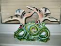 4447-Grup Statuar Randunele portelan stil Art Deco reflectii