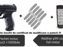 Pistol airsoft full metal co2 Walther P99 4jouli +2000 bile