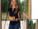 Perdea ALBA/neagra plasa anti-insecte cu inchidere magnetica