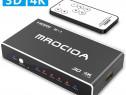 Switch splitter HDMI 4k 5 in 1 mrocioa telecomanda universal