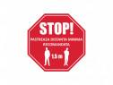 Sticker adeziv de avertizare