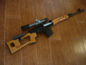 Pusca modificata airsoft 6mm sniper awp dragunov,luneta