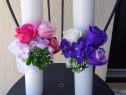 Lumanari nunta, borez trandafiri de sapun