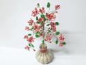 Pom unicat cu flori handmade, copac decorativ, 25 cm