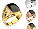 Stoc. inele barbatesti / gold, silver stainless steel