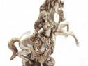 Statueta Cal Cu O Fata, 33 Cm, TD00187D