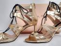 Sandale noi Musette Cristhelen B. piele toc 8 cm mar. 39 40