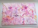 Tablou abstract acrilice pastel Canvas