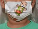 Măști de protecție din bumbac 100%,2 straturi pentru copii
