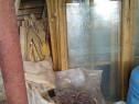 10 bucati ferestre lemn cu geam vechi