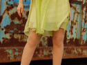 Rochie eleganta verde-lamai, Marimea M
