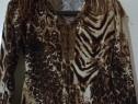 Bluza catifea animal print