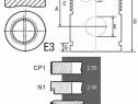 Piston si segmenti tractor Fiat 23/32-254