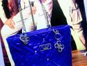 Geanta firmă Guess albastru electric new model
