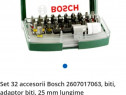 Set nou portabil 32 accesorii Bosch 2607017063, biti