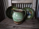 Set de 3 ceramica veche