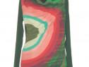 Desigual, Bluza noua, cu design si print specific, asimetric